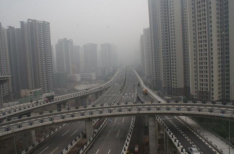 滨海新区大港 刘鸿泉摄影作品《雾都重庆》